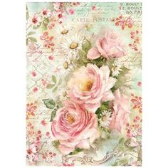 Just in! Roses and Daisies Rice Paper #stamperia #ricepaper #decoupage #roses #daisies #shabbychic