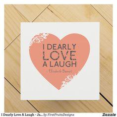 I Dearly Love A Laugh - Jane Austen Quote Wine Gift Box