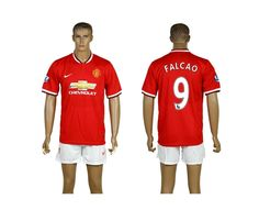 Manchester United #9 FALCAO Red Home Soccer Club Jersey