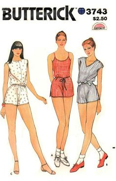 Butterick 3743 Vintage 70s Sewing Pattern by studioGpatterns, $9.50