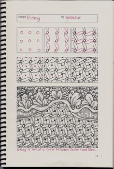 New tangle pattern Tricorn & redo of K-ning #zentangle | lifeimitatesdoodles