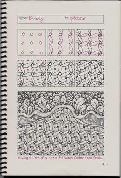 New tangle pattern Tricorn & redo of K-ning #zentangle   lifeimitatesdoodles