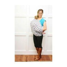 Nursing Scarf Cover Breastfeeding Infant Baby Full Coverage Gray Chevron #ItsyRitzy