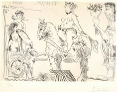 Picasso Sketches, Picasso Drawing, Pablo Picasso, Matisse, Figure Drawing, Monochrome, Book Art, Art Gallery, Tapestry