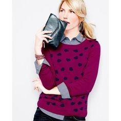 Garnet Hill Piccadilly Sweater - XL(16-18) - Black/Gray Leopard
