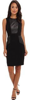 Calvin Klein Luxe And Leather Sheath Dress on shopstyle.com
