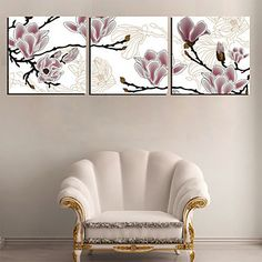Stretched Canvas Art Floral Dreamy Flower Set of 3 – USD $ 59.99