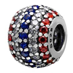 Babao Jewelry Round Multicolored CZ Crystals 925 Sterling Silver Bead fits Pandora Style European Charm Bracelets >>> Startling review available here  : Charms and Charm Bracelets