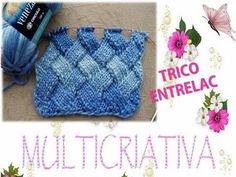 TRICÔ ENTRELAC 1  TRIÂNGULOS DE BASE   MULTICRIATIVA TRICÔ 410dffdc922