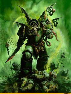 Warhammer 40000,warhammer40000, warhammer40k, warhammer 40k, ваха, сорокотысячник,фэндомы,Nurgle,Chaos (Wh 40000),plague marine,Chaos Space Marine,Typhus the Traveller,Death Guard