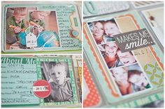 Not only do I love her pages, but how she photographs her layouts for her blog! Truly talented!