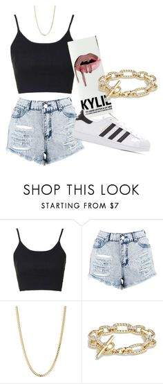 """Untitled #43"" by bvbydest on Polyvore featuring Topshop, Boohoo, Bianca Pratt, David Yurman and adidas Originals"