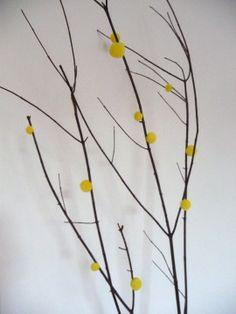 Pom-pom branches, from Martha Stewart Crafts Dept.
