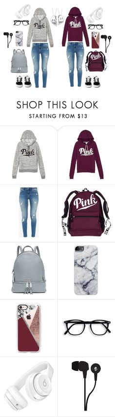 """""""Best friend matching outfits"""" by alondra-lemus909 ❤ liked on Polyvore featuring Victoria's Secret, Ted Baker, MICHAEL Michael Kors, Casetify, Beats by Dr. Dre and Skullcandy"""