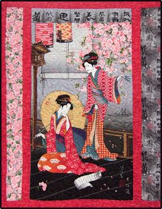 Lovely oriental quilt kit