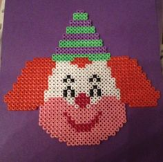 Clown hama beads by TheMissBlue