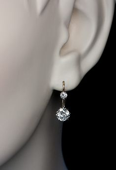 Vintage Two Stone Diamond Earrings C 1910 Antique Jewelry Rings Faberge Eggs