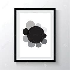 shades of black, shape, circles, original print by j24design on Etsy