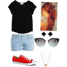 chill kinda day by pieperhess on Polyvore featuring polyvore, fashion, style, The Lady & The Sailor, Paul & Joe, Converse, Yvel, Minnie Grace and MANGO