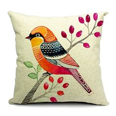 new car styling cushion covers decorative throw pillows decorate pillow cover almofadas cushions home decor decoration coussin Cheap Throw Pillow Covers, Decorative Pillow Covers, Floral Cushions, Printed Cushions, Cushion Cover Designs, Cushion Covers, Cushion Pillow, Bird Patterns, Linen Pillows