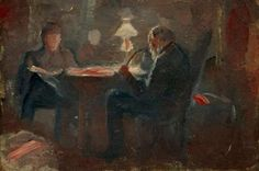 Edvard-Munch-Ved-parafinlampen-1883 -W-104