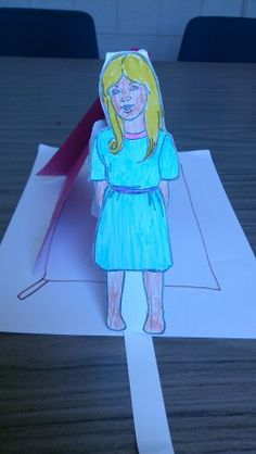 Lesson 11 Jairus' Daughter craft. Refer to my(Jane Petite) previous pin on this craft. This photo shows Jairus' daughter standing up out of bed (after tab pulled).