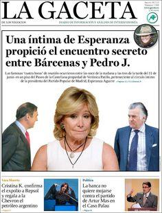 Los Titulares y Portadas de Noticias Destacadas Españolas del 18 de Julio de 2013 del Diario La Gaceta ¿Que le pareció esta Portada de este Diario Español?