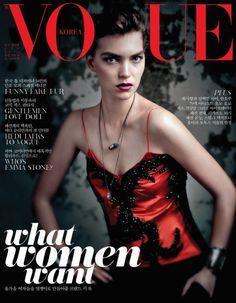 A Givenchy Clad Arizona Muse Covers Vogue Korea September 2012