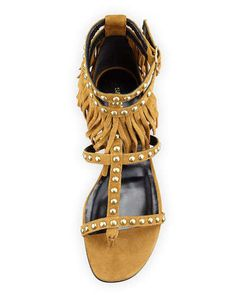 Saint Laurent ( part of 2015 YSL tribute) fringe suede flat fall 2015