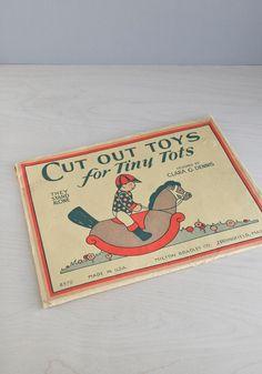 antique cut out paper toy set / unused.