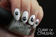 Hayao Miyazaki Universe Soot Inspired Nail Art by Claw of Cthulhu, via Flickr