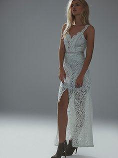 Pale Mint lace column dress @ freepeople