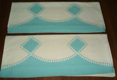 Vintage Pillowcases with Rick Rack Trim