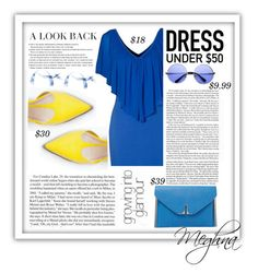 """""""bLuE yELloW"""" by meghna2014 ❤ liked on Polyvore"""
