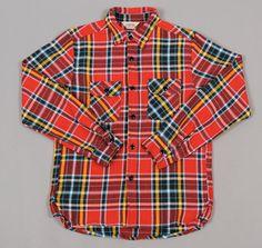 Heavy Flannel Workshirt, Red