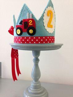 Farm Birthday tractor crown  Waldorf felt birthday crown by mosey, $32.00