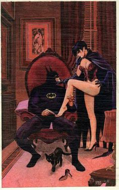 Catwoman and Batman by Mike Vosburg - idk why I find this to be such good art. Batman Love, Im Batman, Batman Art, Superman, Dc Comics, Comics Anime, Batman Poster, Catwoman Cosplay, Batman And Catwoman