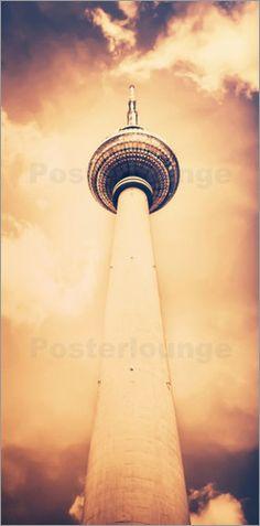 Poster Berlin Fernsehturm | 01 (cross)