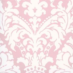 Interior Place - Pink Simple Damask Wallpaper, $28.50 (http://www.interiorplace.com/pink-simple-damask-wallpaper/)