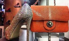 Long Weekend Mood On!  Get ready for the luxury summer parties... 🍹🌞🍹🌞 #LeSilla's Swarovski Crystal pumps & Galuchat leather bag from #NinetyJoyería will give a glamorous touch to your look! #CherryHeel #Luxury #Shoe #boutique #Swarovski #Heels #Pumps #Orange #bag #Galuchatleather #Stingray #exclusive #fashion #summerparties #summer #look #style #glamour #shopping #Barcelona #барселона #стиль #шоппинг #девочкитакиедевочки #инстамода