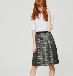 Diamond Shimmer Skirt | Loft