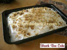 Heath Bar Cake or Chocolate Caramel Cake