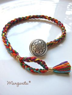 Colorful bracelets and anklets - DIY Schmuck Bracelet Crafts, Jewelry Crafts, Jewelry Art, Beaded Jewelry, Jewelry Bracelets, Fabric Bracelets, Anklet Jewelry, Jewelry Ideas, Jewellery