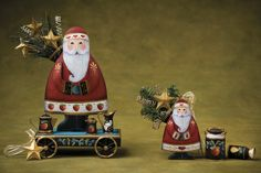 Old St. Nick and Tin Toy Treasures - Della Wetterman