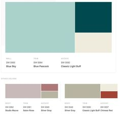 Jazz era 1920s historical shades of interior paint colors from Sherwin-Williams.