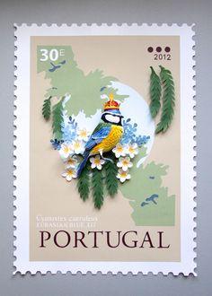Nouvelles Sculptures d'Oiseaux en Papier et Timbres internationaux de Diana Beltran Herrera (1)