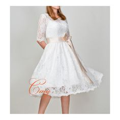 FitAndFlare Short Lace Wedding Dress by CAIY on Etsy, $250.00