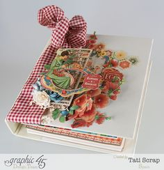 Tati, Mixed Media Album, Recipe Book, Home Sweet Home, Product by Graphic 45, Photo 3