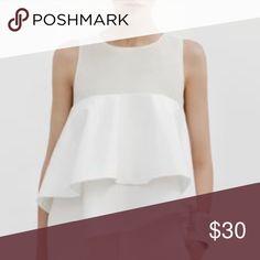Zara white top ❤️ Small Zara Tops Blouses