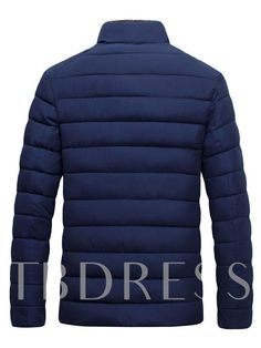 bf9d2b66e07 Stand Collar Thicken Warm Zipper Plain Men s Winter Coat